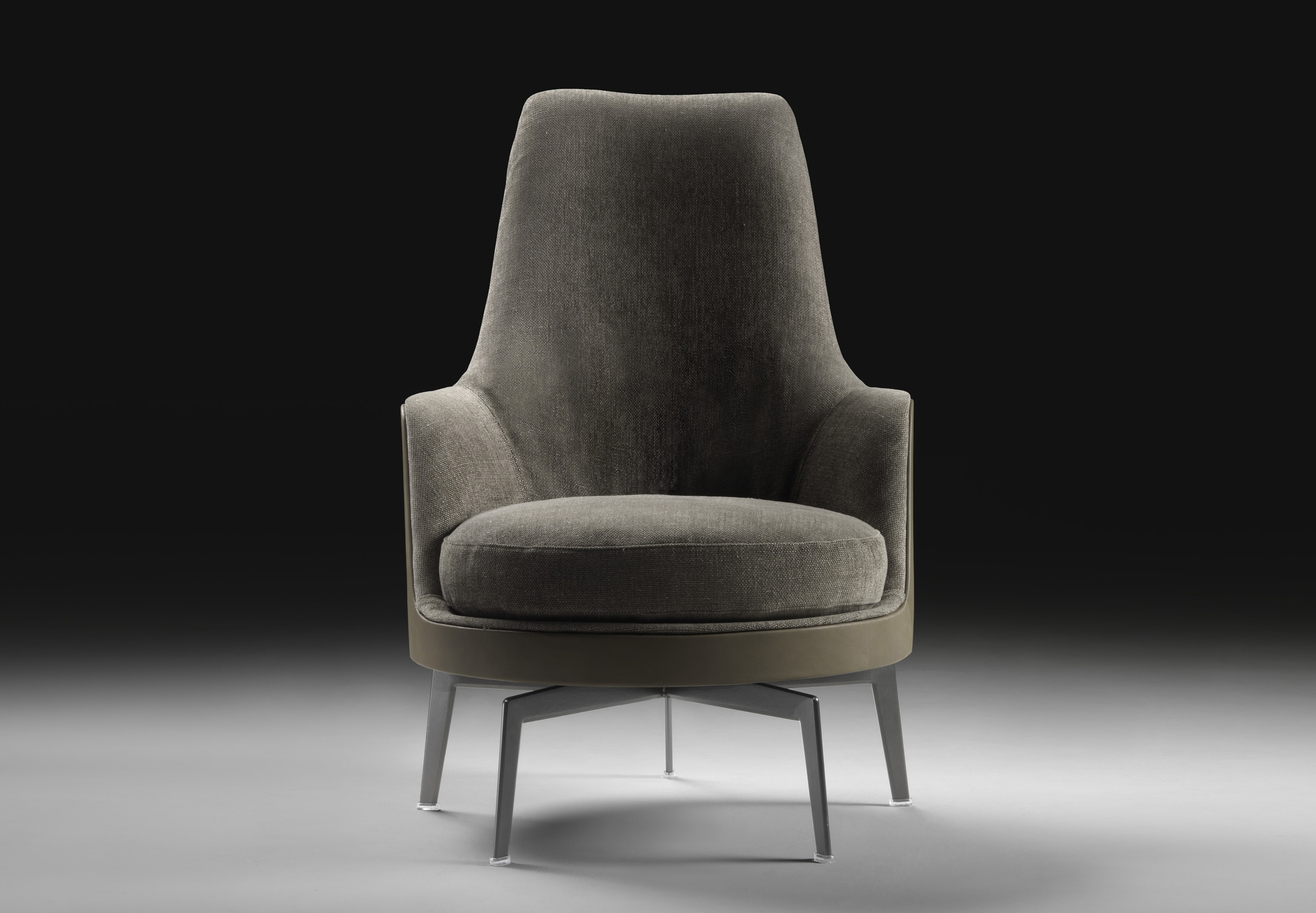 The high backed chair guscioalto soft flexform luxury for Poltrone flexform