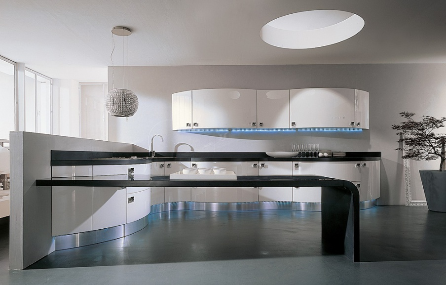 Set for the kitchen with stainless steel domina laccato - Aster cucine outlet ...