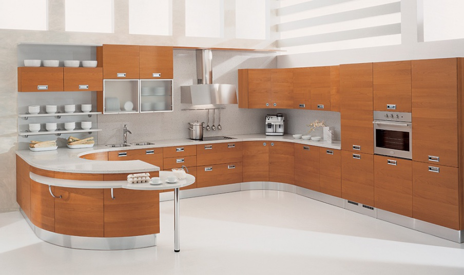 Set for kitchen corner with breakfast bar aster cucine - Aster cucine outlet ...