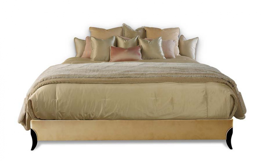 Double Bed With A Frame Made Of Natural Wood Beverly Divan