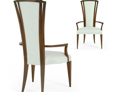 Chair with a frame made of natural wood in fabric tura for Gil arredamenti