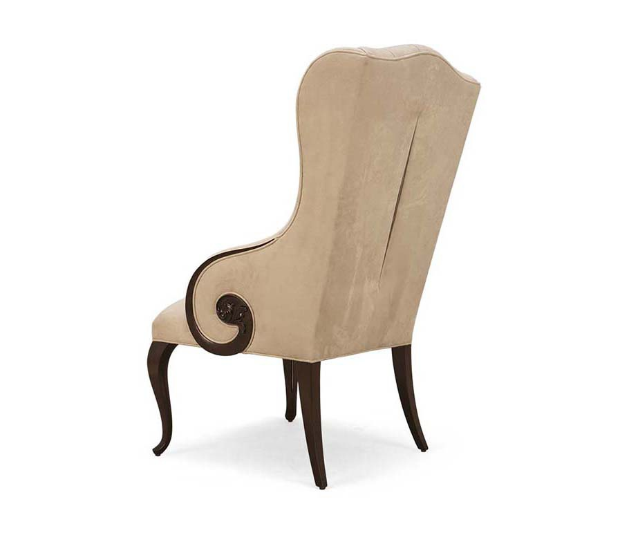 Chair Made Of Natural Wood In Fabric Elysees Christopher