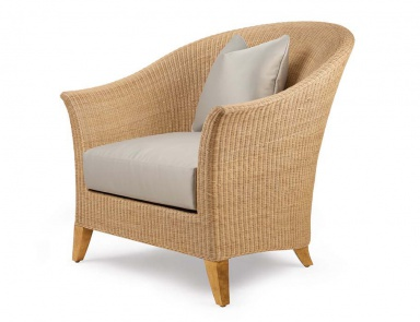 wicker armchairs from natural and synthetic rattan for an. Black Bedroom Furniture Sets. Home Design Ideas