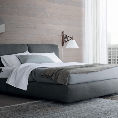 Double bed arca bed poliform luxury furniture mr - Characteristics of contemporary platform beds ...
