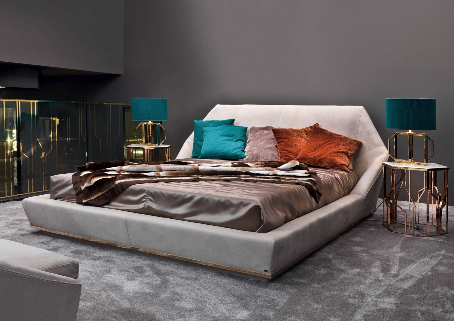 Double Bed In Fabric Yume Longhi Luxury Furniture Mr