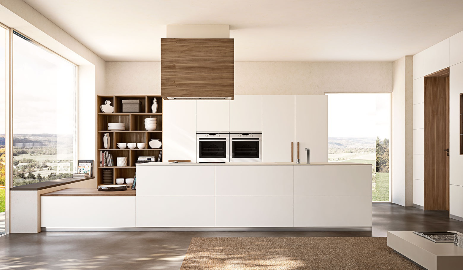 Set for the kitchen of solid wood in a minimalist style Essentia ...