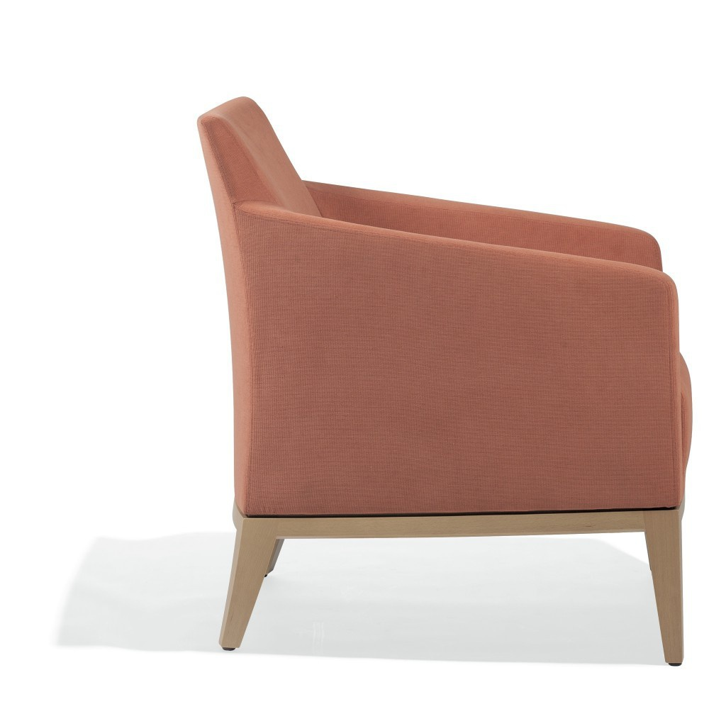 A Chair Made Of Natural Wood In Fabric Elide Past