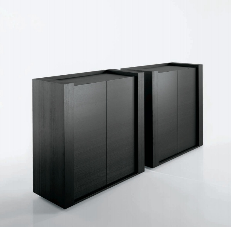 Storage system with hinged doors frame features for Frame storage system