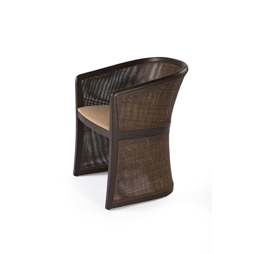 A Chair Made Of Natural Wood In Fabric Grace Past