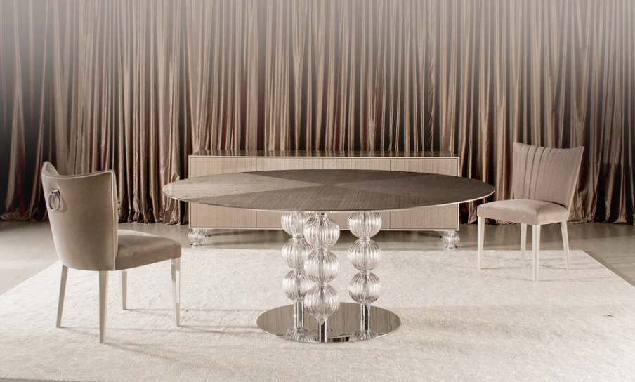 Pasha Dining Table With Metal Base Costantini Pietro