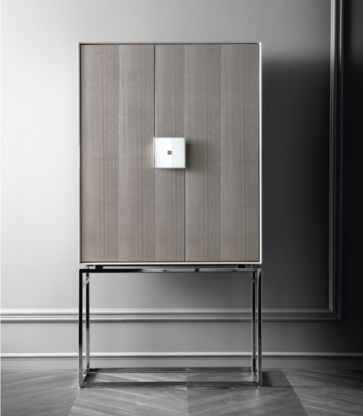 Cabinet bar with case natural wood ELITE, Costantini Pietro ...