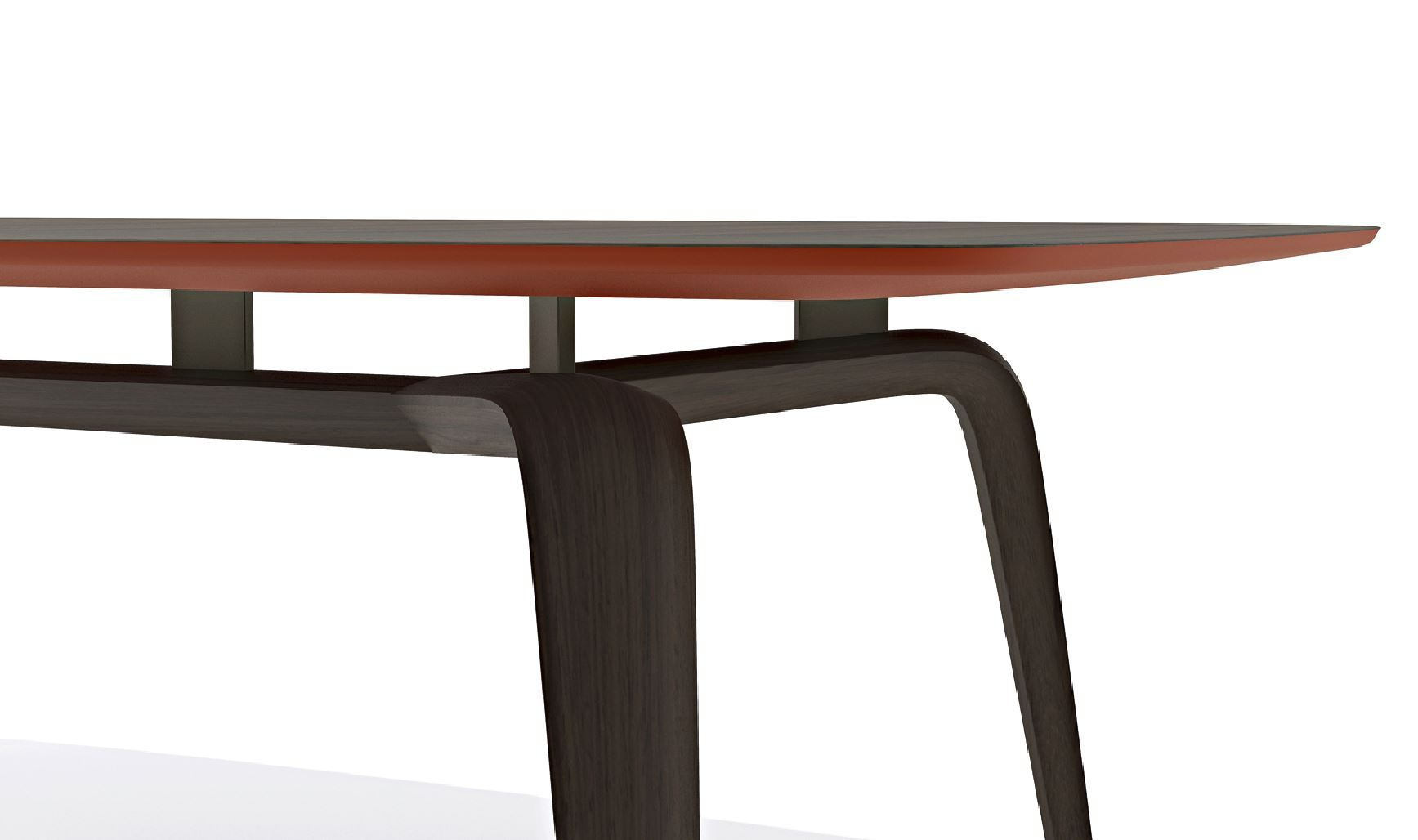 Dining Table Wooden Frame With A Rectangular Tabletop