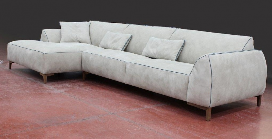 Sofa with wooden frame and leather upholstery kong gamma for Dama arredamenti