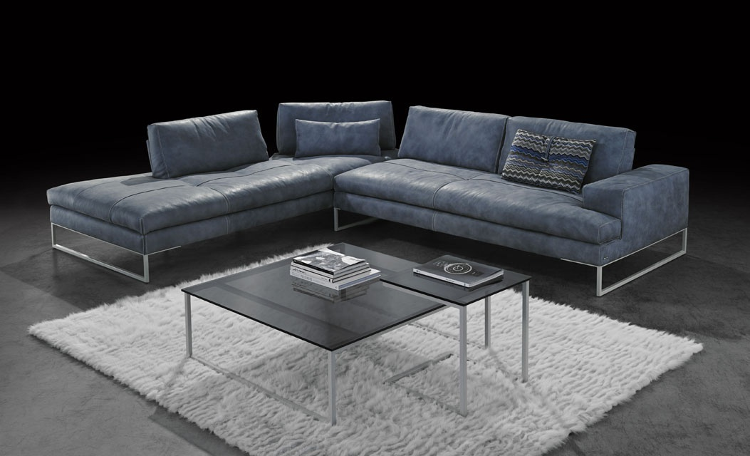 Modular sofa with leather upholstery Sunset, Gamma ...