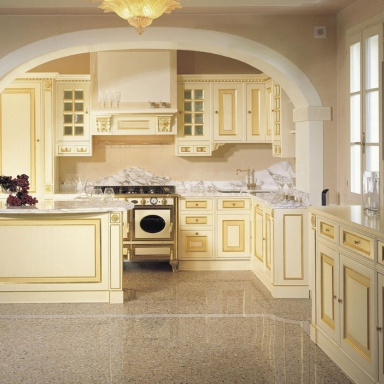 Set for the kitchen made of solid wood with a lacquer for Royal kitchen set
