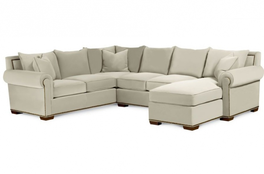 Sofa sectional with chaise fremont thomasville luxury for Small sectional sofa thomasville