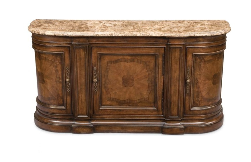 Credenza with marble top bibbiano thomasville luxury furniture