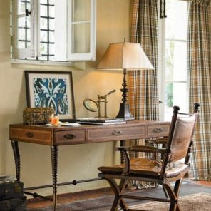 Writing Table With Leather Trim Safari Thomasville