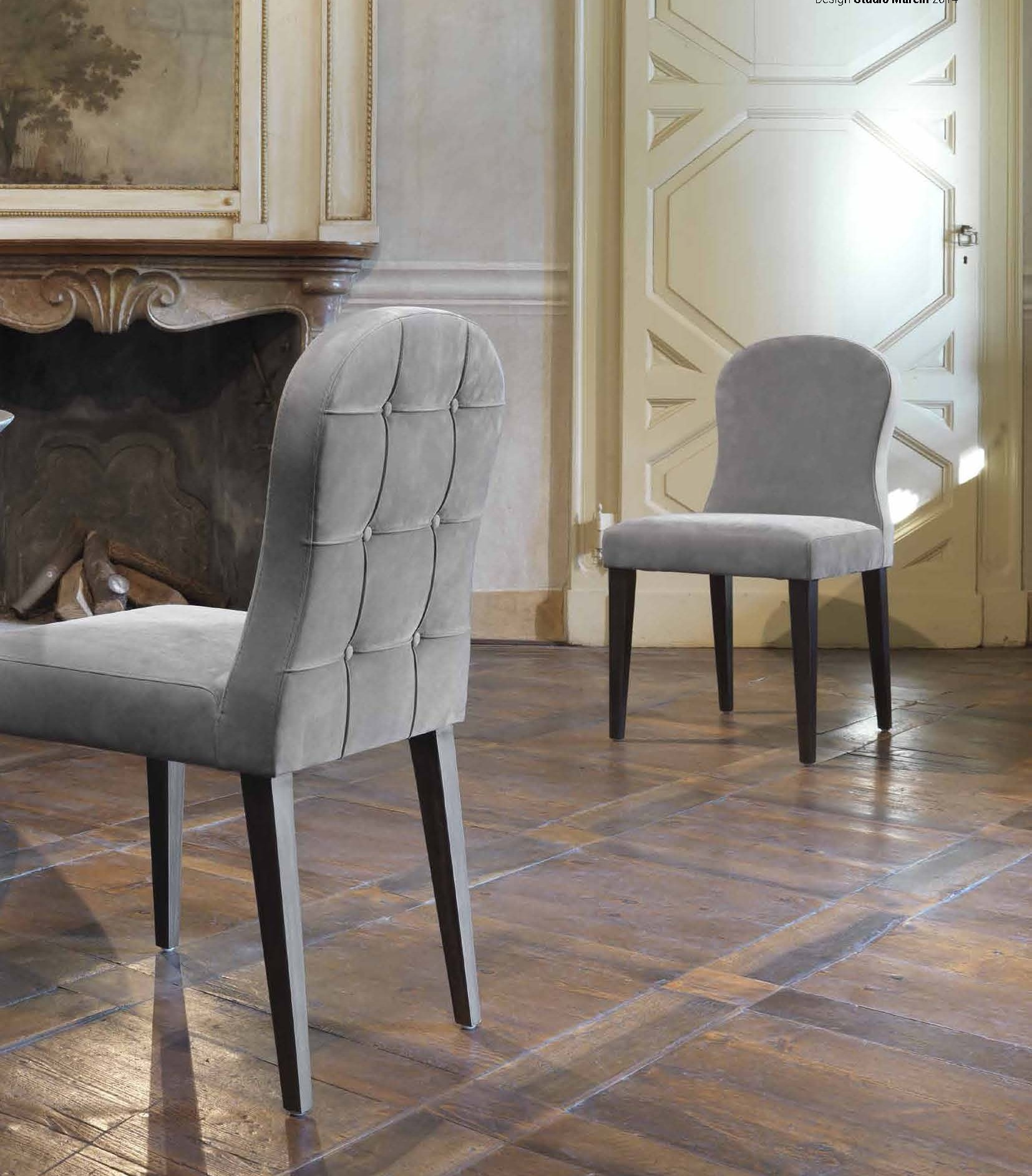 Chair with upholstered bell giulio marelli