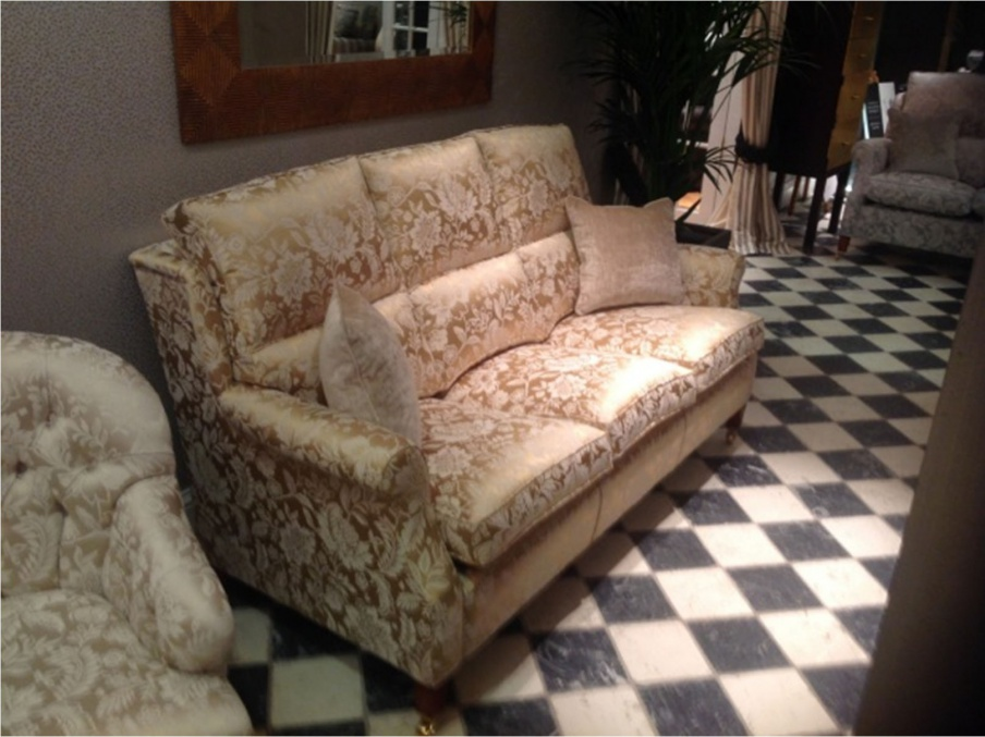 Two Seater Sofa Made Of Wood And Fabric