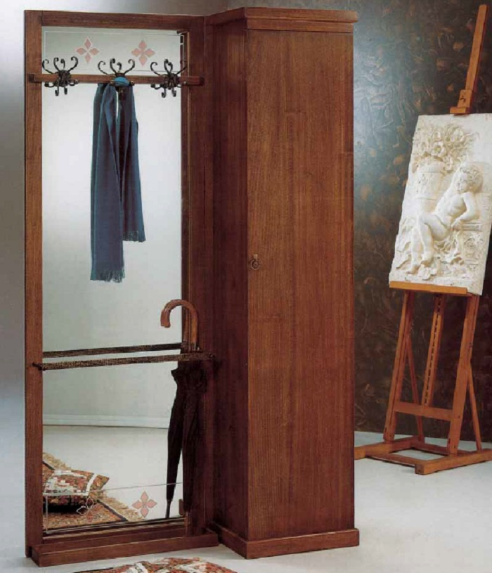 Wardrobe single wardrobe made of solid wood cp mobili - Wooden art mobili ...