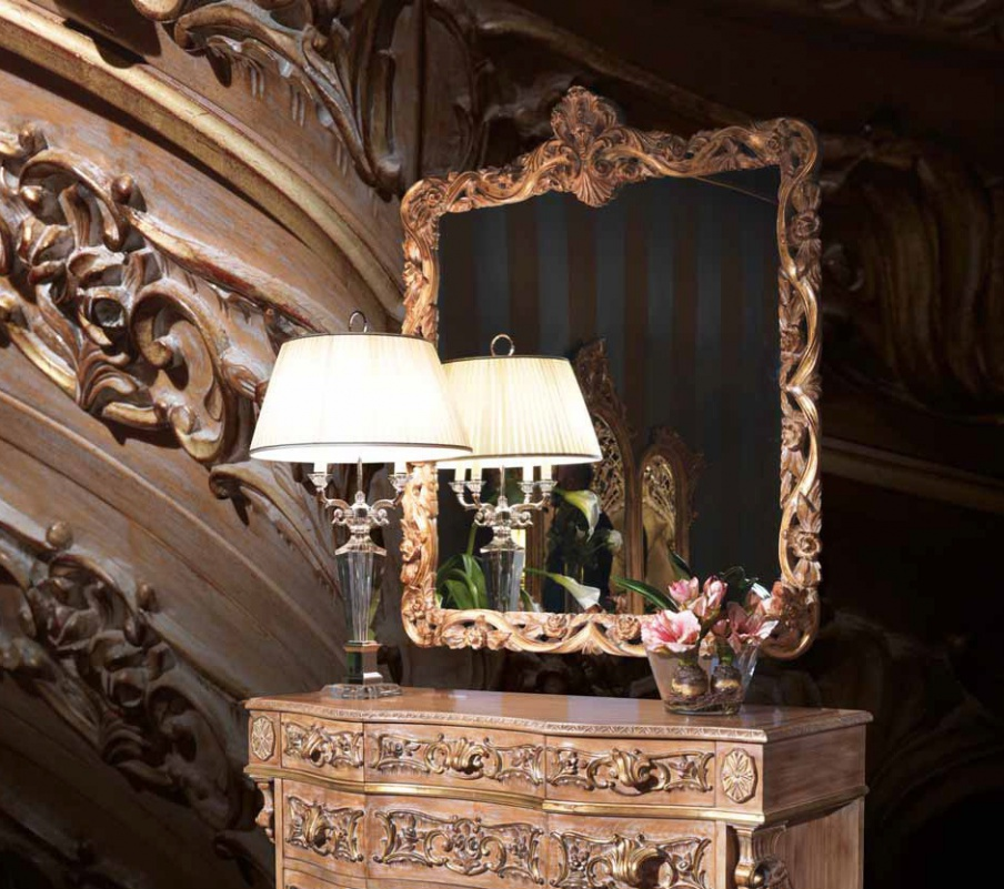 Wall Mirror With Carved Frame, Ezio Bellotti