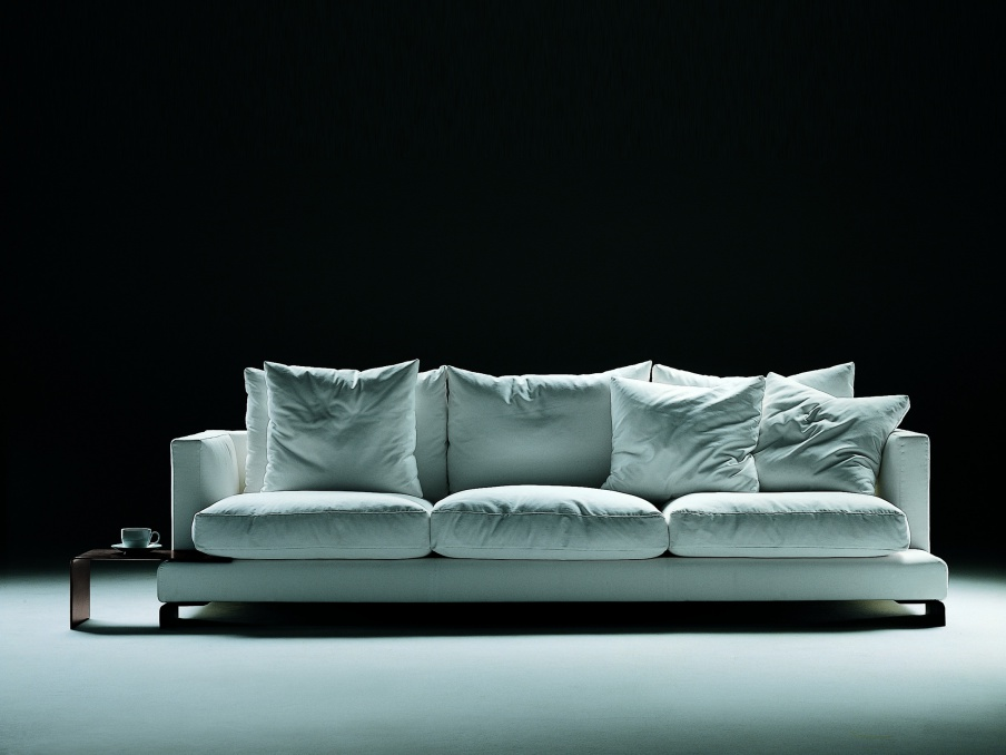 Stupendous Double Sofa Upholstered In Leather Or Fabric Long Island Flexform Interior Design Ideas Clesiryabchikinfo