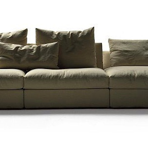 Modular Sofa With Metal Frame Upholstered In Leather Or Fabric