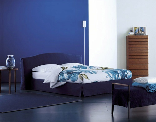 Double bed on the aluminum frame Orchidea, Flou
