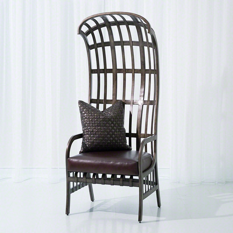 The Cascade Wrought Iron Chair With High Back Frame Made Of Metal Studio A Luxury Furniture Mr