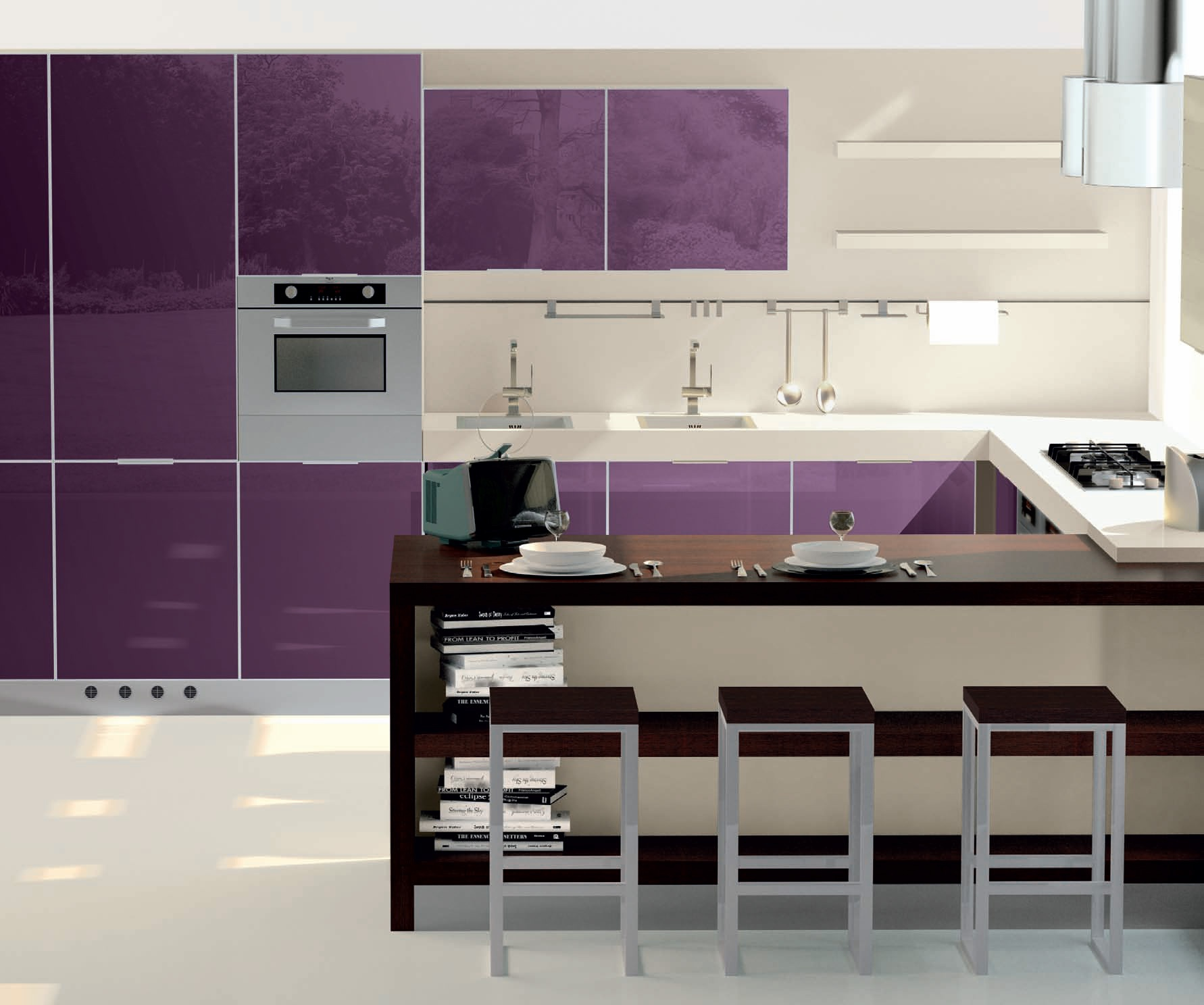 Italian Kitchen Sets Manufacturer: Kitchen Vitra Comp.6 From The Italian Manufacturer Ar-Tre