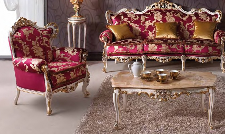 Sofa Set In Baroque Style With