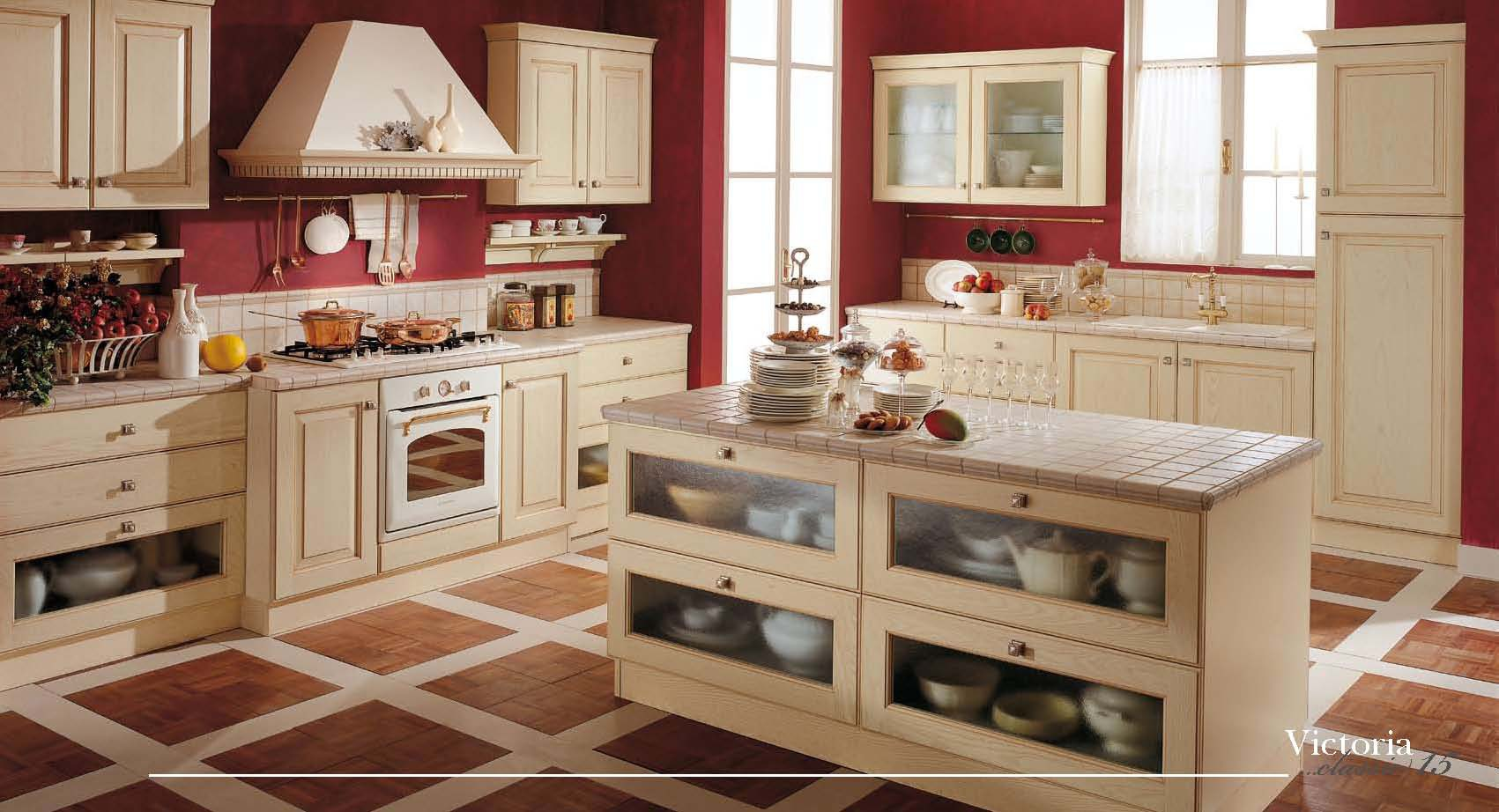 Set for the kitchen in classic style victoria imab group for Kitchen set classic