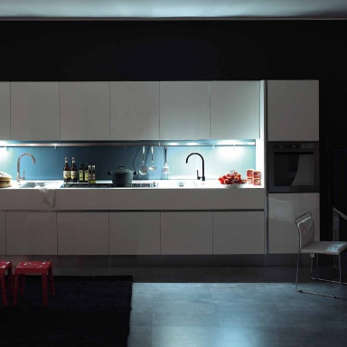 Kitchen kitchen set made of wood mdf with integrated - Aran cucine italy ...