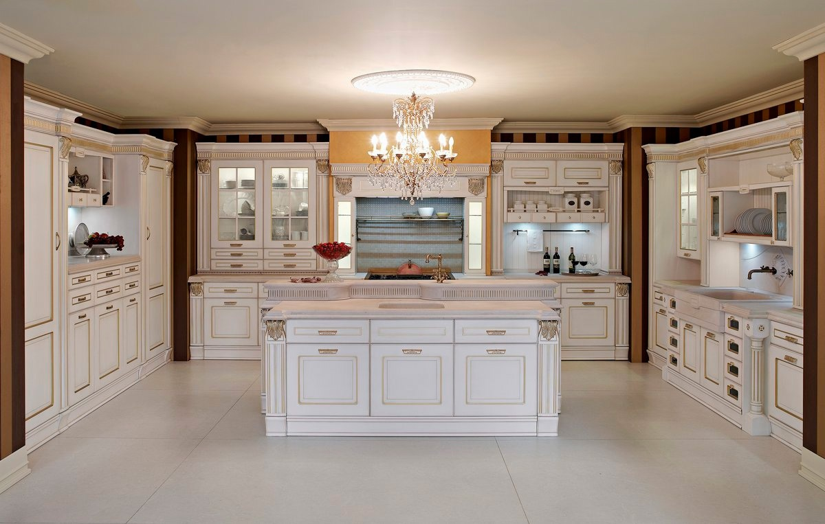 Kitchen (Suite kitchen) natural wood, Imperial, Aran Cucine ...
