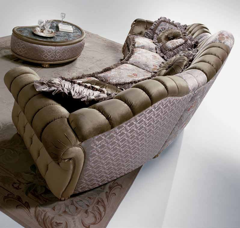 Semi circular sofa in vanity fabric sat export luxury for Semi classic sofa