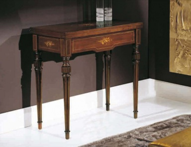 The console is made of solid wood with figural decor for Chelini arredamenti
