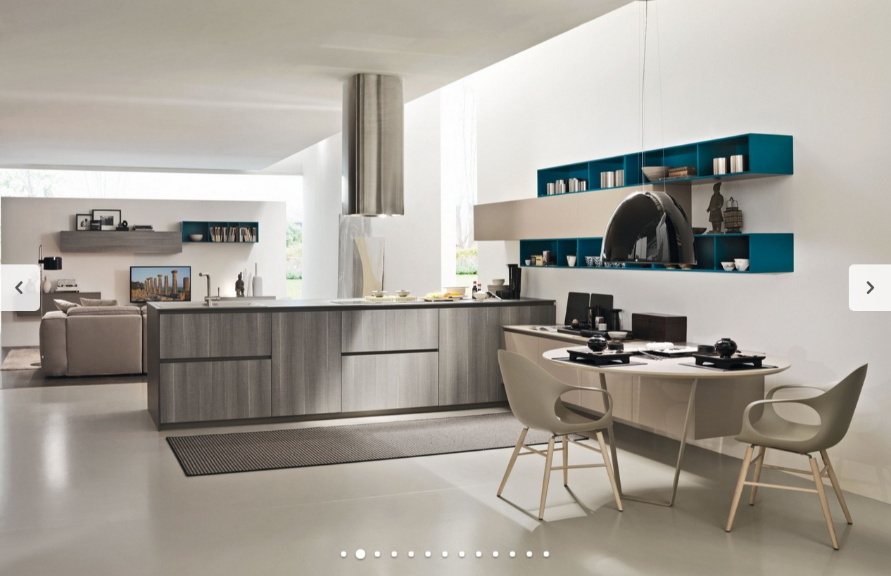set for the kitchen in modern style one gola k 3, siloma - luxury ... - Siloma Cucine
