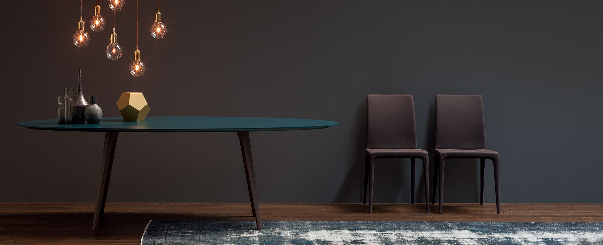 Wonderful image of Dining table natural wood Argos Novamobili Luxury furniture with #9C6E2F color and 1920x780 pixels
