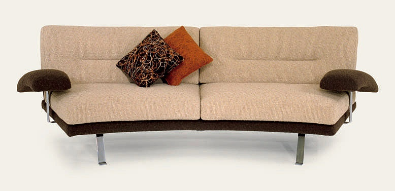 Two Seater Sofa With Frame Of Wood With Metal Legs Lord Il