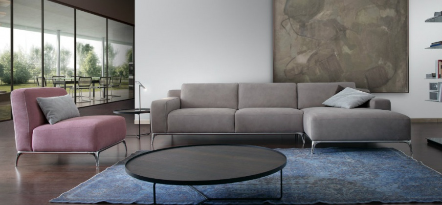 sofa set on steel legs and under morgana 953 calia italia luxury furniture mr. Black Bedroom Furniture Sets. Home Design Ideas