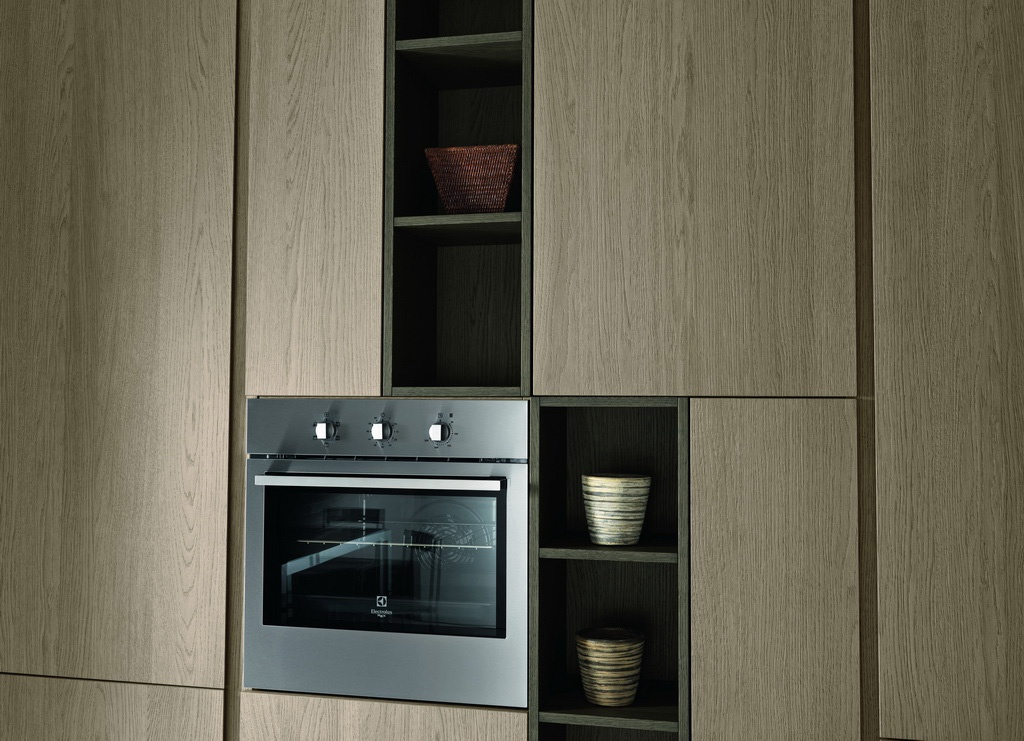 Kitchen kitchen set in a modern style with a case of for Kitchen set natural