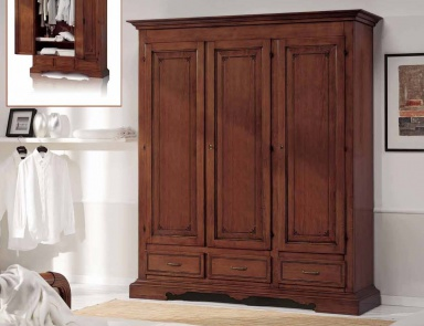 Wardrobe made of solid wood trendy jesse luxury for Bedroom furniture 77598