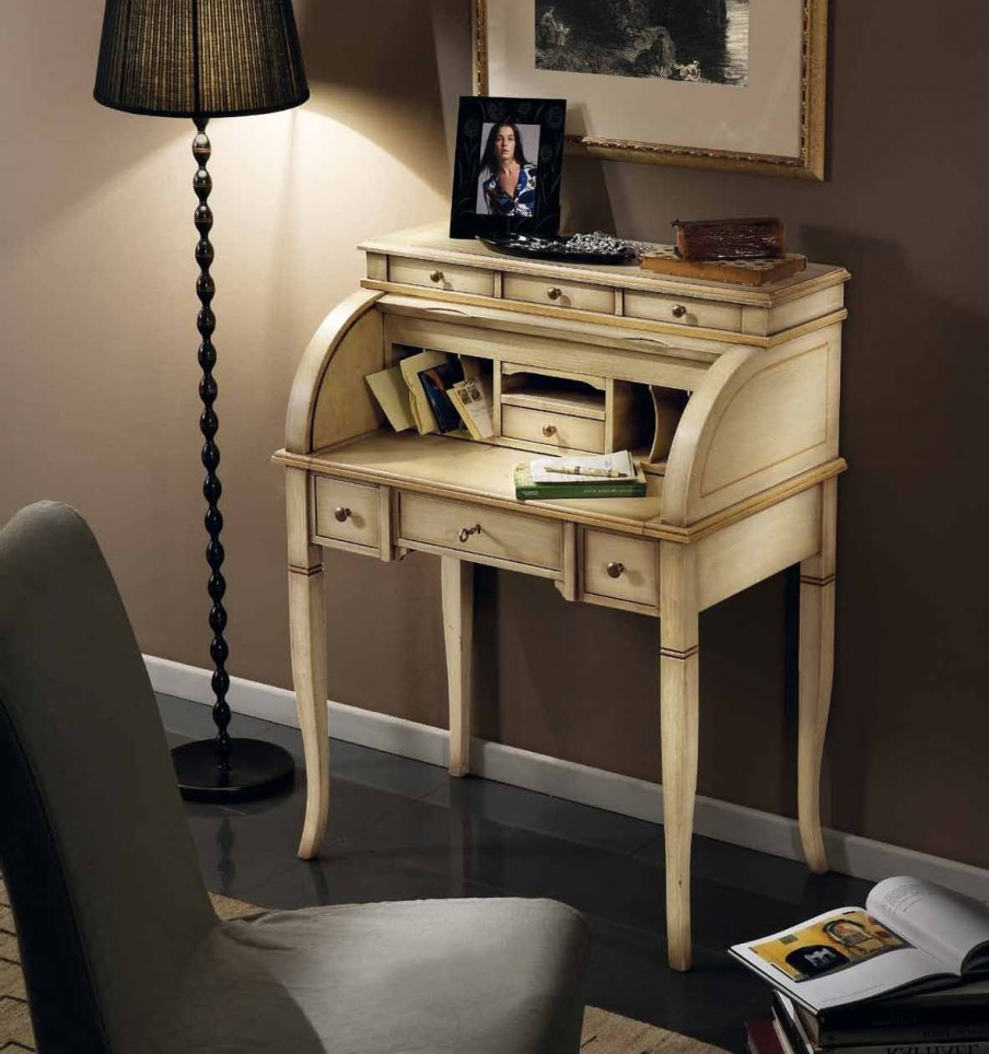 Bureau with hinged panel is in classic style, Mirandola Export ...