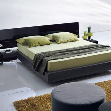 Double bed on the base of the old oak and silver bed presotto luxury furniture mr - Characteristics of contemporary platform beds ...
