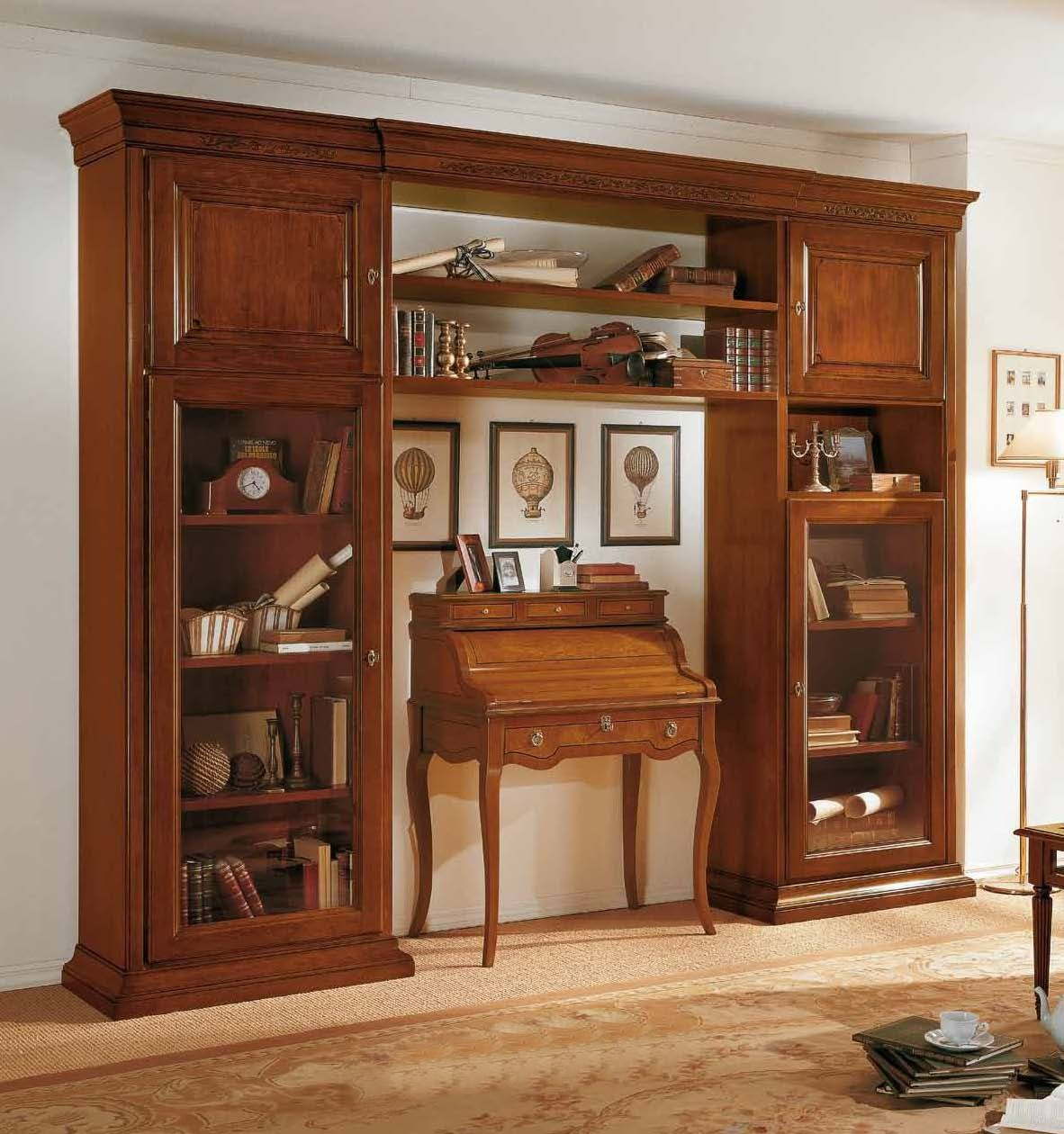 Modular System In A Classic Style And Wooden Frame Mirandola Export Luxury Furniture Mr