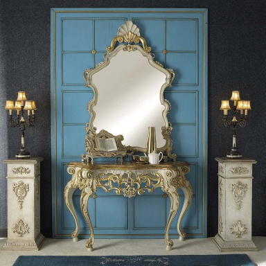 Console with mirror Ercole