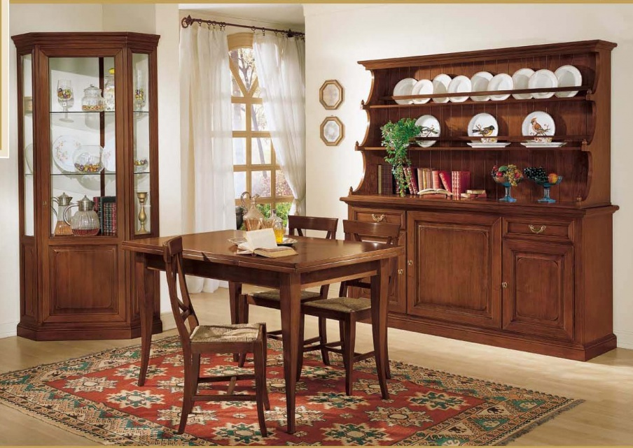 Dining room (set for the dining room) with corner window, Mirandola Export