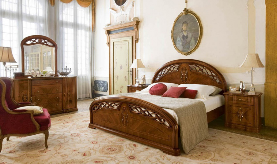 The Semi Circular Bed With High Headboard And Footboard Montenapoleone Alf Luxury Furniture Mr
