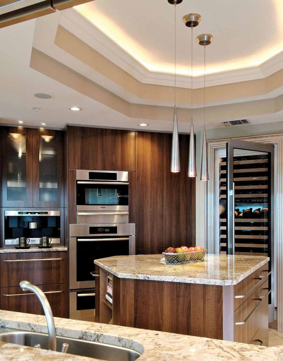 Set for the kitchen from wood veneer finish Contemporary ...